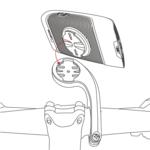 Verlengde houder scootmobiel GPS kilometerteller