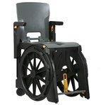 Wheelable vouwbare douche & toilet rolstoel