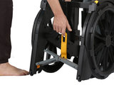 Wheelable vouwbare douche & toilet rolstoel_