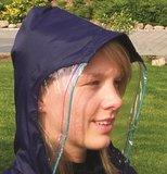 Regencape met mouwen en zichtvenster - Marine blauw_