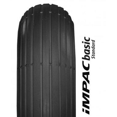Buitenband 7x 1 3/4 (47-93) lijnprofiel - zwart