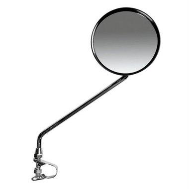 Spiegel rond zilver rechts