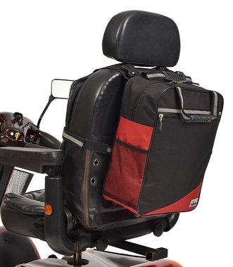 Wheelyscoot rugleuningtas scootmobiel rood