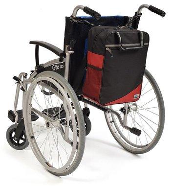 Wheelyscoot rugleuningtas rolstoel rood