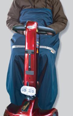 Scootmobiel schootskleed marineblauw - Voering